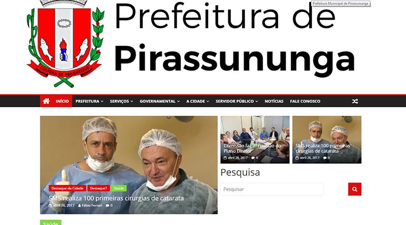 Novo portal (site) do município de Pirassununga