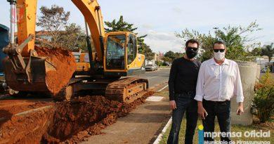 Obras contra inundações chegam à Avenida Prudente de Moraes