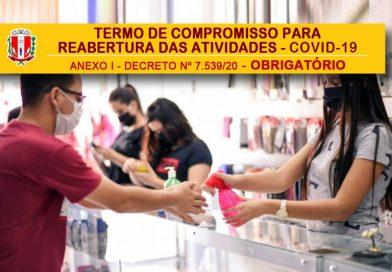 Termo de Compromisso para Reabertura das Atividades – COVID-19