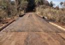 Obras e Serviços, finalizou a ponte de acesso ao Canil Municipal.