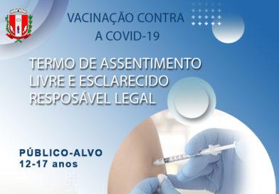 Vacinação contra a covid-19 de pessoas de 12 a 17 anos está condicionada à autorização dos pais ou responsáveis legais.