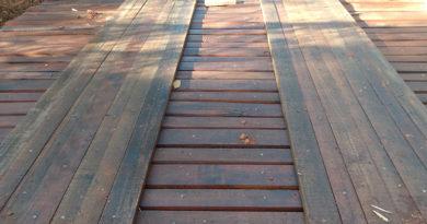 Pontes são recuperadas em áreas rurais.